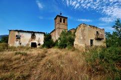 Pueblo fantasma de Tiermas, España Imagen de archivo