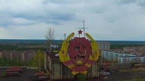 """Pueblo fantasma del †de Pripyat """"cerca de Chernóbil almacen de metraje de vídeo"""