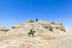 Pueblo fantasma del mundo en Xinjiang Foto de archivo libre de regalías