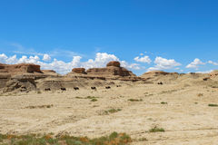 Pueblo fantasma del mundo en Xinjiang Fotografía de archivo