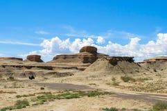 Pueblo fantasma del mundo en Xinjiang Fotos de archivo libres de regalías