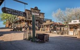 Pueblo fantasma del yacimiento de oro en Arizona Imagen de archivo libre de regalías