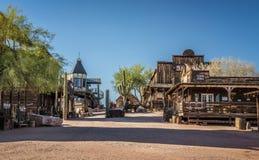 Pueblo fantasma del yacimiento de oro en Arizona Fotos de archivo