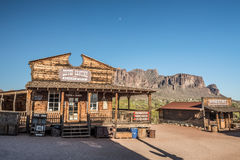 Pueblo fantasma del yacimiento de oro en Arizona Foto de archivo