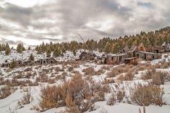 Pueblo fantasma dilapidado Fotografía de archivo