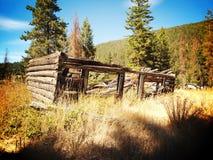 Pueblo fantasma en Coalmont Imágenes de archivo libres de regalías