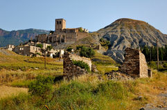 Pueblo fantasma en España imagen de archivo libre de regalías