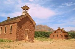 Pueblo fantasma en Grafton, Utah Fotos de archivo libres de regalías