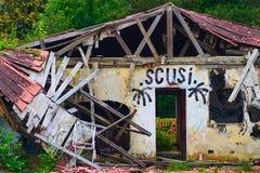 Pueblo fantasma en Italia foto de archivo libre de regalías