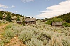 Pueblo fantasma en una ladera fotos de archivo libres de regalías