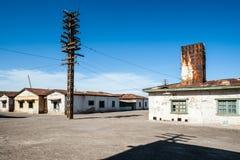 Pueblo fantasma Humberstone en Atacama, Chile Fotografía de archivo