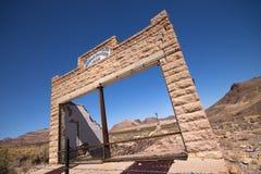 Pueblo fantasma occidental Foto de archivo