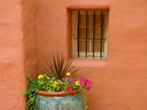 Pueblo-Fenster stockfotografie