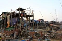 Pueblo flotante del enchufe del Kampong, Camboya Imagen de archivo
