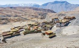 Pueblo Himalayan de la mucha altitud Imagen de archivo