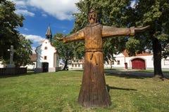 Pueblo histórico de Holasovice en Bohemia del sur en la República Checa foto de archivo