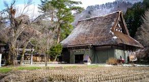 Pueblo histórico de Shirakawago en el invierno Foto de archivo