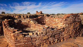 Pueblo Indian Ruins at Wupatki National Monument Stock Photos
