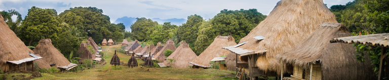 Pueblo indonesio tradicional Fotografía de archivo