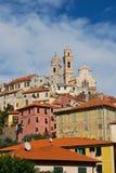 Pueblo italiano medieval, Cervo, Liguria, Italia fotos de archivo libres de regalías