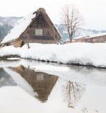 Pueblo Japón de la nieve imágenes de archivo libres de regalías