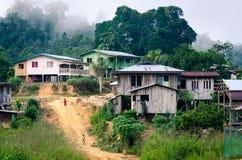 Pueblo malasio rural Imagen de archivo