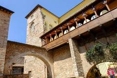 Pueblo medieval de Spello en Italia Fotos de archivo libres de regalías