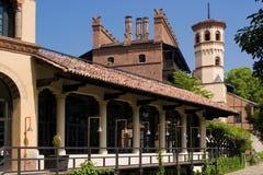 Pueblo medieval en Turín, Italia imagen de archivo libre de regalías