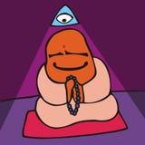 Pueblo. Meditación Imagen de archivo libre de regalías