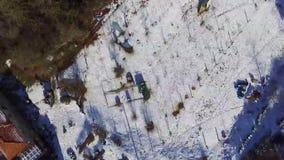 Pueblo mediterráneo en invierno almacen de metraje de vídeo