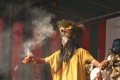 Pueblo mexicano Maya de Xcaret del grupo Fotos de archivo libres de regalías