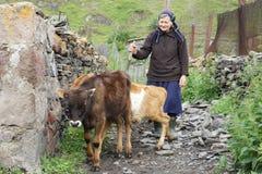 Pueblo, montañas del Cáucaso, Georgia Fotografía de archivo libre de regalías