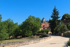 Pueblo Montfort en francés Dordoña Imagen de archivo