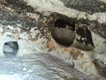 Pueblo New México de Tsankawe de las viviendas de cueva imagen de archivo