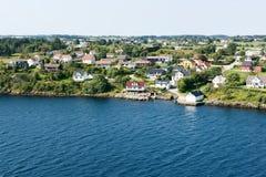 Pueblo noruego típico Imagenes de archivo
