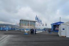 Pueblo olímpico en Sochi Fotos de archivo libres de regalías