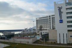 Pueblo olímpico en Sochi Imagen de archivo libre de regalías