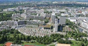 Pueblo olímpico, Munich, visión aérea metrajes