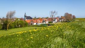 Pueblo Oudeschild en la isla de Texel en los Países Bajos fotografía de archivo libre de regalías
