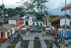 Pueblo Paisa a Medellin Colombia Immagini Stock Libere da Diritti