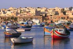 Pueblo pesquero #2 de Marsaxlokk Imagenes de archivo