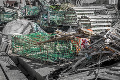 Pueblo pesquero Fotos de archivo libres de regalías