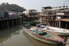 Pueblo pesquero chino Fotos de archivo libres de regalías