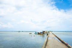 Pueblo pesquero de Ham Ninh, mar agradable/playa en Phu Quoc Foto de archivo libre de regalías