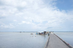 Pueblo pesquero de Ham Ninh, mar agradable/playa en Phu Quoc Imágenes de archivo libres de regalías