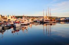 Pueblo pesquero de Husavik, Islandia fotos de archivo libres de regalías