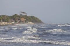Pueblo pesquero de Jiquilillo, Nicaragua Fotos de archivo libres de regalías