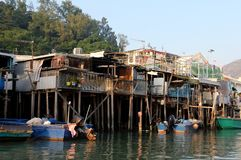 Pueblo pesquero de la playa fotos de archivo libres de regalías