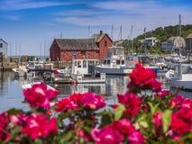 Pueblo pesquero de Nueva Inglaterra Fotografía de archivo libre de regalías