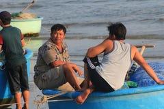 Pueblo pesquero del ne de Vietnam Mui Fotografía de archivo